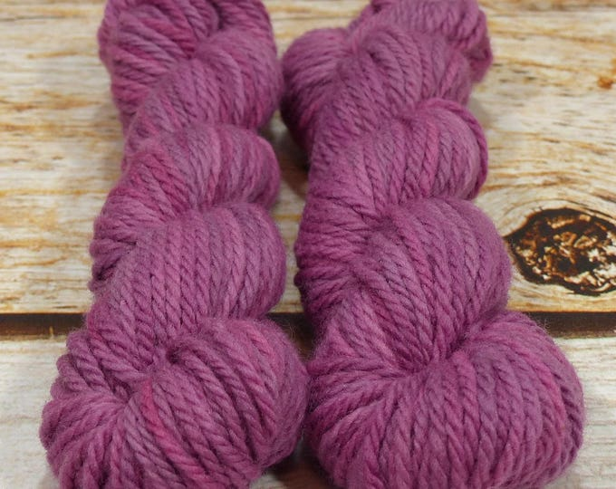 """Wee Llineage Worsted """" Cobalt Glass """" Semisolid Hand Dyed Yarn 20 g / 50 yd"""