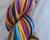 Bulky Russian Rainbow Self-striping Superwash Merino Yarn