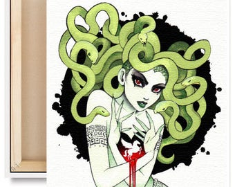 LIMTED EDITION Medusa in Vignette Canvas Reproduction Print 1 of 25