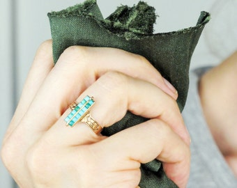 Antique Turquoise Ring | 14k Antique Rose Gold Victorian Ring | Antique 14k Gold Ring | 14k Turquoise Antique Ring