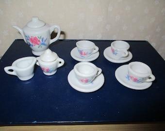 Miniature Tea Set Floral