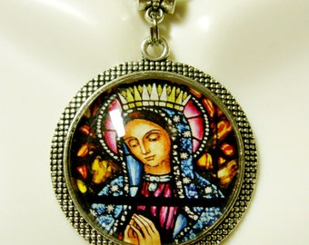 Our Lady of Guadalupe pendant and chain - AP26-300