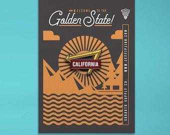California Arrow Enamel Pin