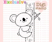 RESERVED for Club Members ONLY  - Cute Koala Digital Stamp - Koala Stamp - Koala Art - Koala Digital Stamp