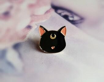 Luna pin - soft enamel pin