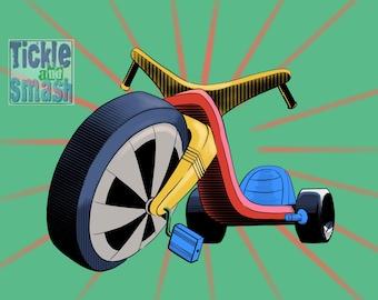 BigWheel Toy Card - Childhood Memories, Retro Card, Bike Card, Boys Card, Riding Toy Card, Kids Card, Blank Card,Greeting Card