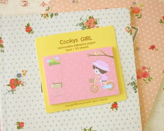 07 Cookys Girl cartoon Sticky Notes