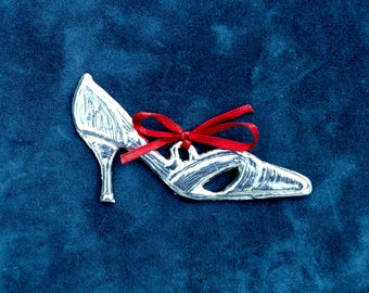 Pewter Shoe Ornament