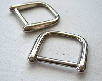 "3/4"" D Rings High Quality Diecast Nickel Plated - set of 4"