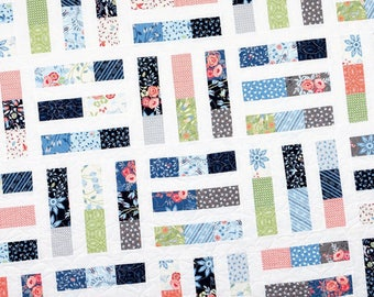 Trifles Quilt Pattern - Jelly Roll Friendly Pattern - Modern Quilt Pattern - It's Sew Emma ISE 182
