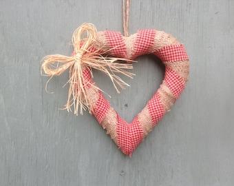Burlap heart wreath, valentine heart wreath, primitive heart wreath, country heart wreath, primitive heart, country primitive heart decor