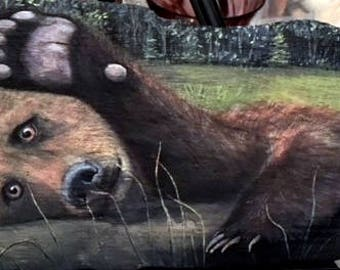 Bear Driftwood Painting