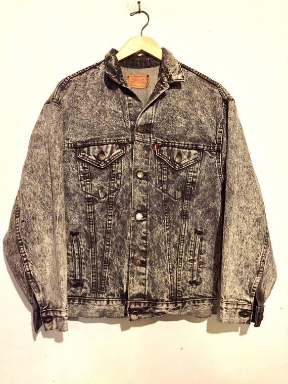 Levi's Grey Acid Wash Denim Jacket