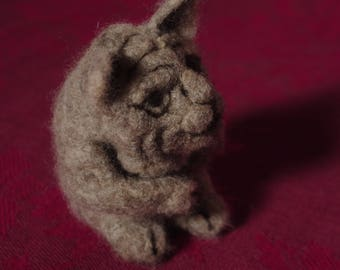 Gargoyle - Needle felted wool sculpture