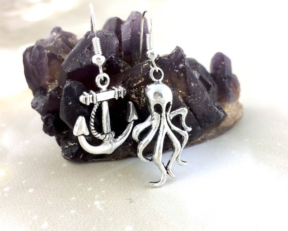 Sterling Silver Mismatched Ocean Earrings