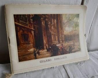 Vintage Italian Prints Booklet / Holiday Souvenir Milano Duomo e Citta Paper Ephemera