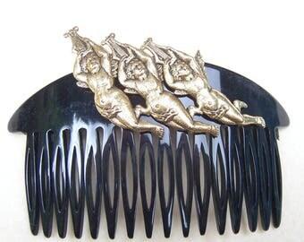 Retro hair comb figural angels hair accessory hair slide hair clip hair ornament decorative comb hair jewellery (AAD)