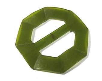 Green Bakelite Buckle Slide VINTAGE Green BAKELITE Slide Buckle Bakelite Vintage Wedding Fashion Sewing Jewelry Supplies (N212)
