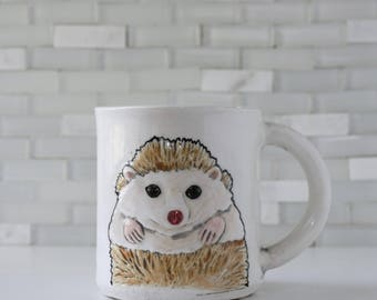 Hedgehog Mug | coffee mug tea cup | mint interior | cute animal hedgie mug | in stock