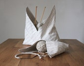 PDF Sewing Pattern - Wholecloth Bento Bag Sewing Pattern - DIY Origami Project Bag - Knitting Bag Pattern - Waste Free Bag