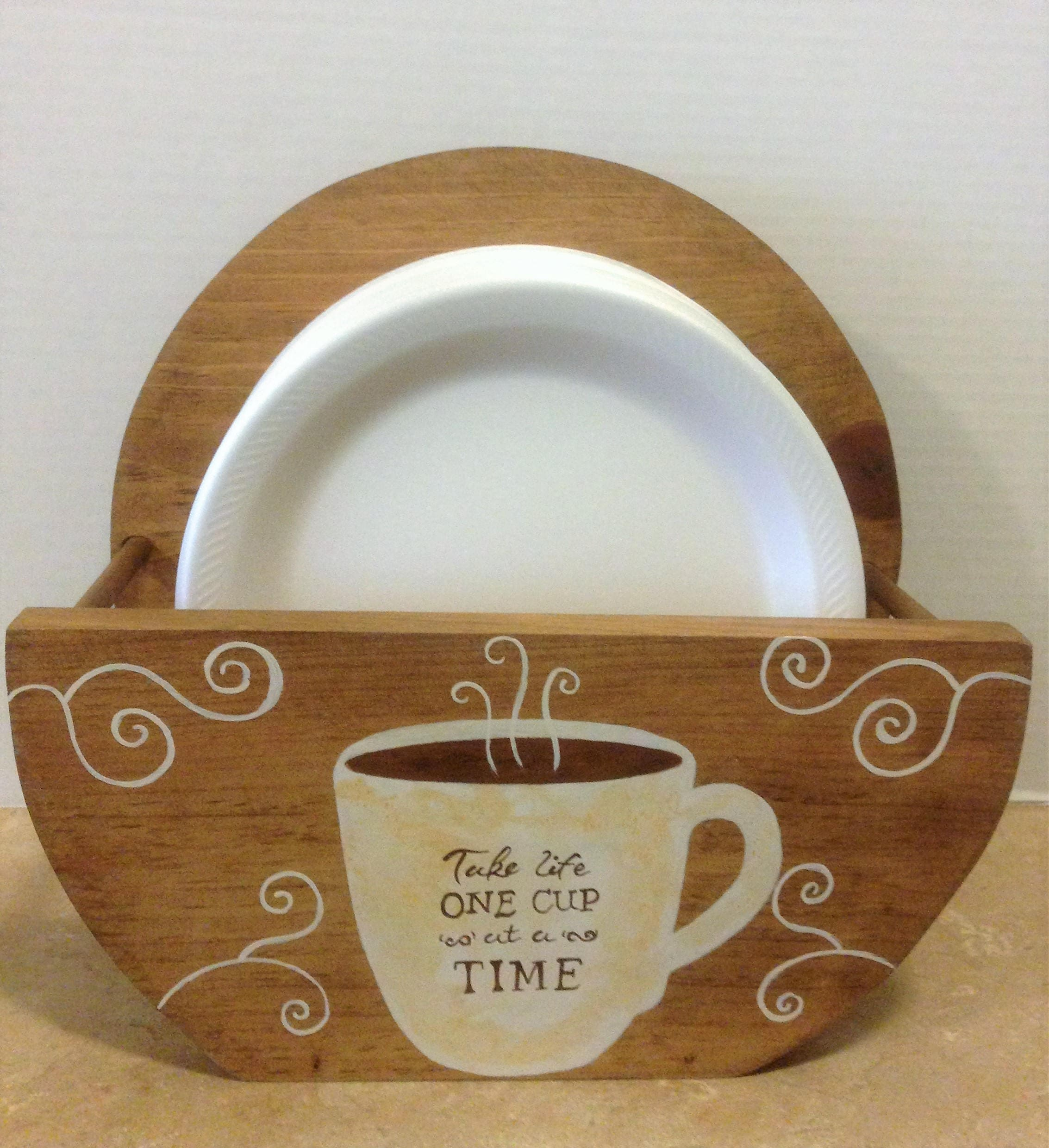 Paper Plate Holder Coffee Decor Coffee Theme Bistro Theme