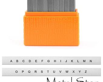 Metal Letter Stamp Set Upper Case 1.5mm by Impressart - Arial Sans Serif font