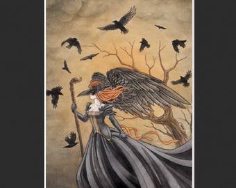 The Crow Fantasy Print (Matted)
