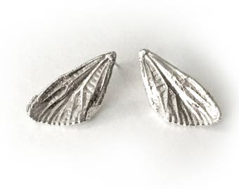 Small Silver Cicada Wings Post Earrings (EP-SSCW)
