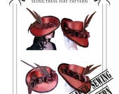 Victorian  Hat  Sewing Pattern, Steampunk , Neo Victorian, Sherlock Holmes, Millinery Tutorial, Hat Making, Larp, Cosplay Costume.