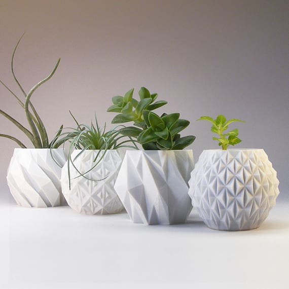 modern planter modern home decor gift geometric planter. Black Bedroom Furniture Sets. Home Design Ideas