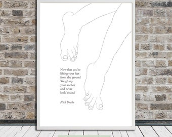 Lifting your feet, Inspirational Quote Wall Art, Black and White Decor, Motivational Minimalist Typography Quote Poster, Printable