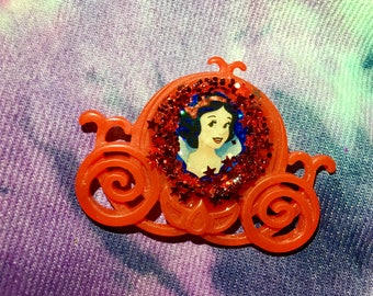 Snow White Carriage Brooch