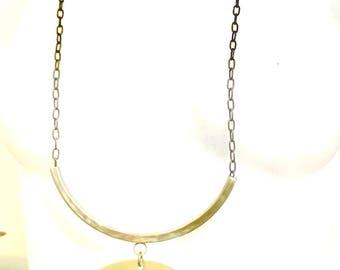 Long Sun Goddess Brass Necklace