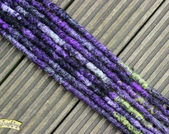 Witches Brew SE x8 Crochet Synthetic Dreads - purple black white green
