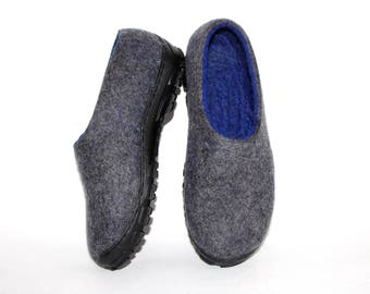 Men Slipper, Slipper Boots, Felted Wool Slippers, Organic Wool, Slippers Men, Unique Gifts For Men, Wool Gift, Felted Slippers
