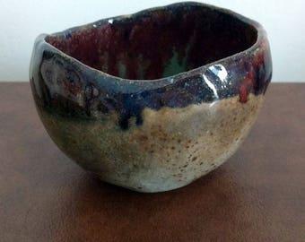 Handmade Rustic Ceramic Bowl, Clay Pinch Pot, Cereal Bowl, Ceramic Bowl, Handmade Pottery Dish, Bohemian dishware, Breakfast Bowl, Retro