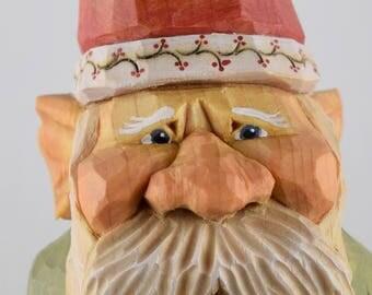 gnome, elf,nisse, lutin, Christmas, Santa, wood carving, Nordic, Scandinavian