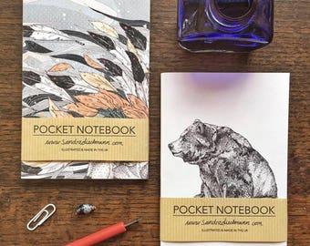 Notebook, Jotter, Mini Sketchbook   Bear