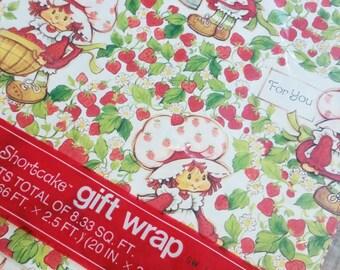 Strawberry Shortcake American Greetings Gift Wrap