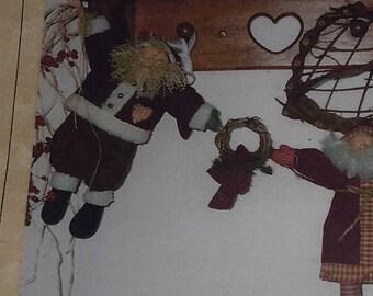 Ho-Ho-Ho Santa Garland PATTERN by Hollyhocks & Ivy