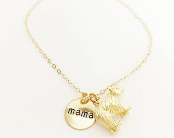 Mama Bear Necklace // Mom Necklace // Mother Necklace // New Mom Necklace //  Engraved Necklace // Mother's Day