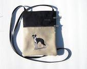 Italian Greyhound Dog Cross Body Flat Purse