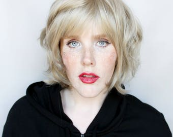 SALE Short wig | Short Blonde wig, Ash Blond wig | Short Wavy wig, Natural blonde wig | Bob wig, alopecia wig, cancer wig | August Rain