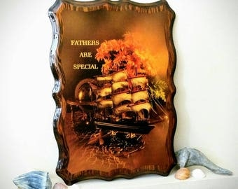 Vintage ~ Father Are Special ~ Resin on Wood ~ Wall Plaque