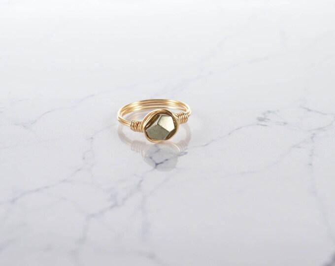 Pyrite Facet Ring