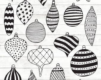 Christmas Baubles Clipart - Christmas Clipart - Christmas Planner Stickers - Christmas Baubles illustrations - Christmas PNG - 93