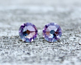 Titanium Earrings, Vitrail Light Swarovski Crystal, Hypoallergenic