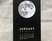 PRE-ORDER 2018 Many Moons Letterpress Calendar