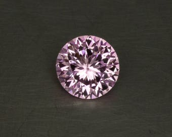 Very Light Pink Padparadscha Sapphire Loose Lab Created Conflict Free Handmade Precision Cut Round Faceted Gemstone