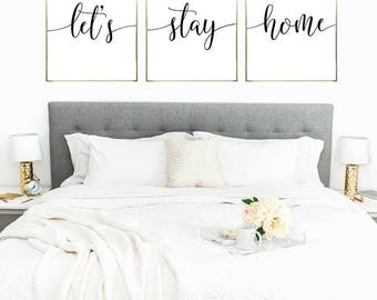 SALE -50% Let's Stay Home Digital Print Instant Art INSTANT DOWNLOAD Printable Wall Decor